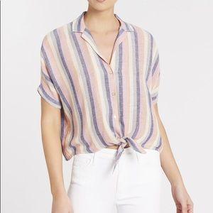 NWOT rails marley tie front shirt mandalay stripe